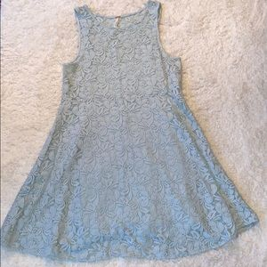 Free People Miles of Lace Mint Dress
